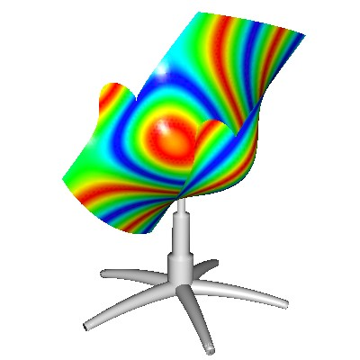 A mathmatical office chair